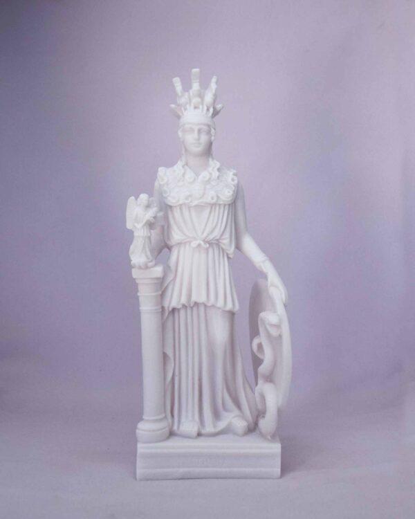 Athena standing statue in White color