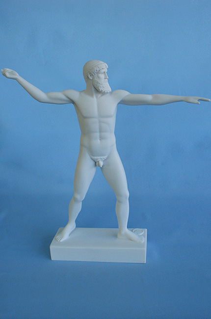 Poseidon ready to throw his trident in White color