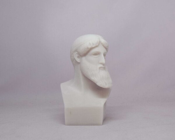 Poseidon Bust statue in White color