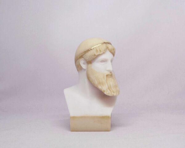 Poseidon Bust statue in Patina color