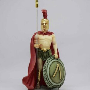Leonidas statuette standing in color
