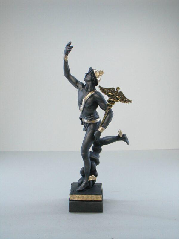 Hermes Olympic God made of Alabaster in Patina Black color