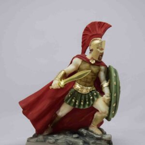 Leonidas holding shield is ready to fight in color
