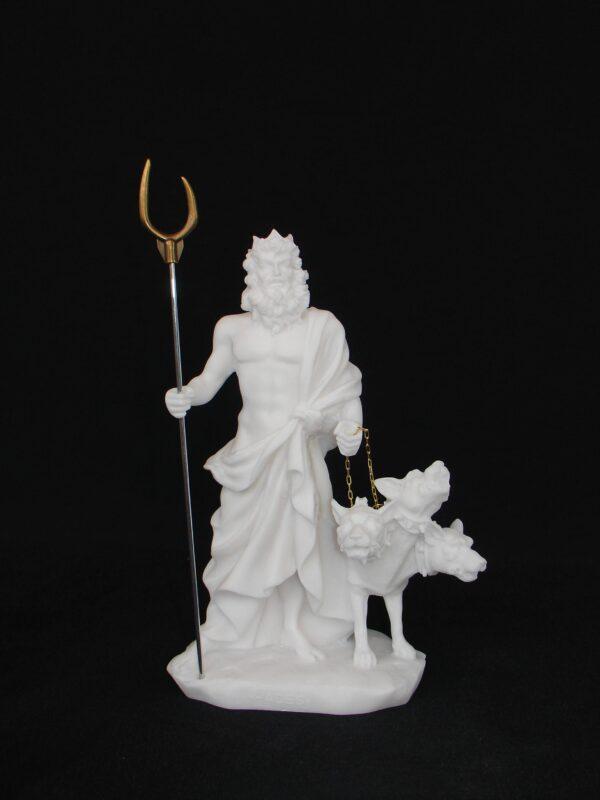 Hades statue with Cerberus in White color