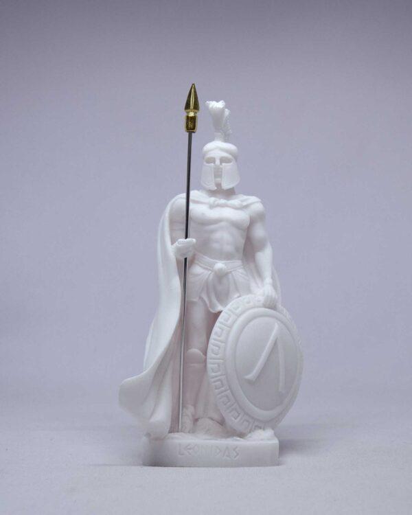 Leonidas statuette standing in White color