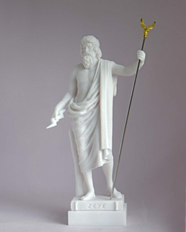 Zeus stands and watches in White color