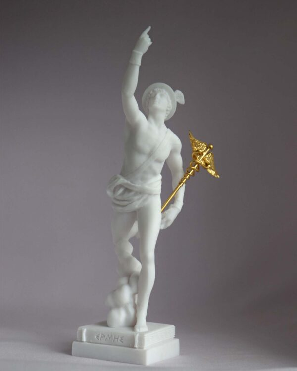 Hermes Olympic God made of Alabaster in White color