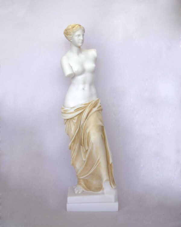 The Statue of Venus of Milos as a whole statue in Patina color