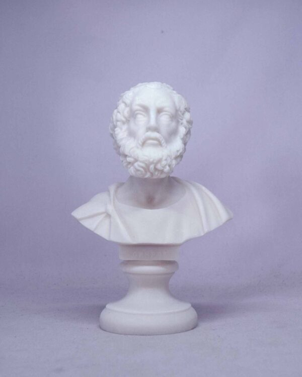 The bust statue of Homer in White color
