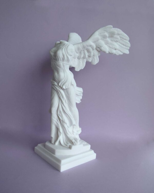 Victory of Samothrace exact Louvre replica in White color