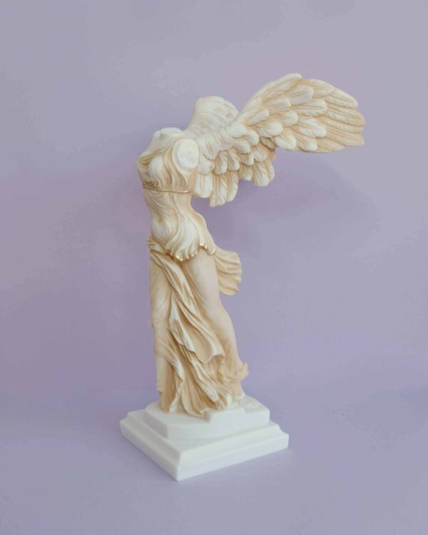 Victory of Samothrace exact Louvre replica in Patina color