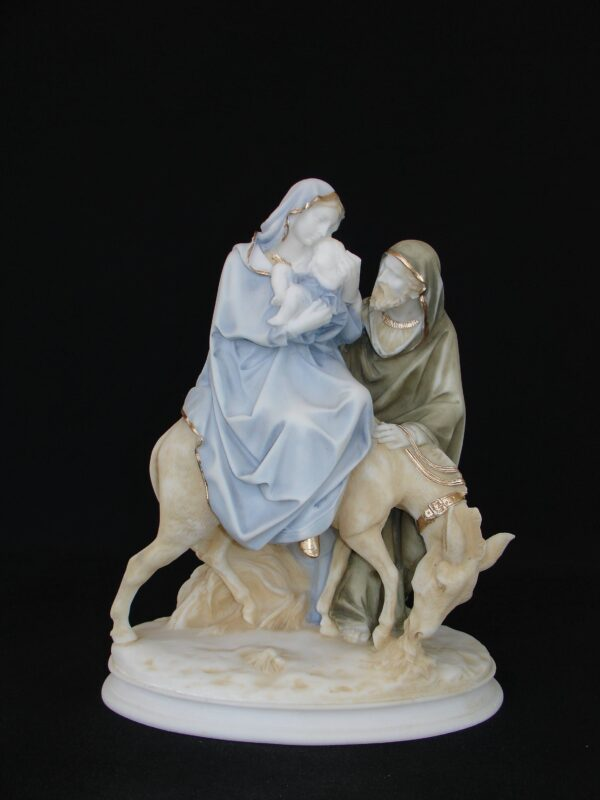The statue of The Holy Family in color