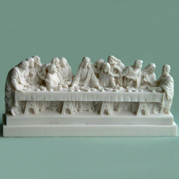 The statue of Last Supper in White color
