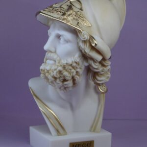 The bust statue of Pericles in Patina color