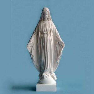 The whole statue of Virgin Mary in White color