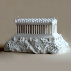 The statue of Parthenon Type 2 in White color