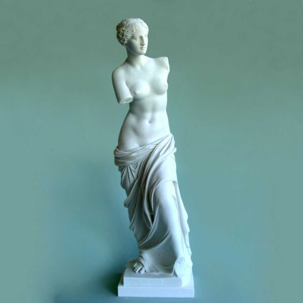 The Statue of Venus of Milos as a whole statue in White color