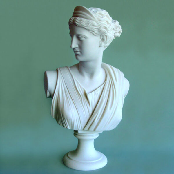 The bust statue of Artemis in White color
