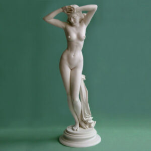 The whole statue of Aphrodite standing in White color