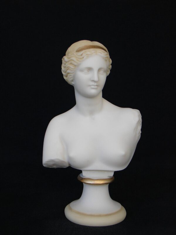 Bust statue of Aphrodite in Patina color