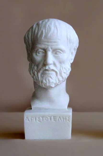 The bust statue of Aristotle in White color