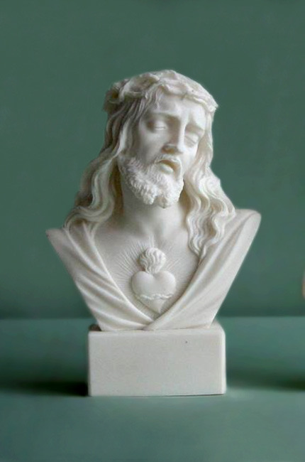 The bust statue of Jesus Christ in White color