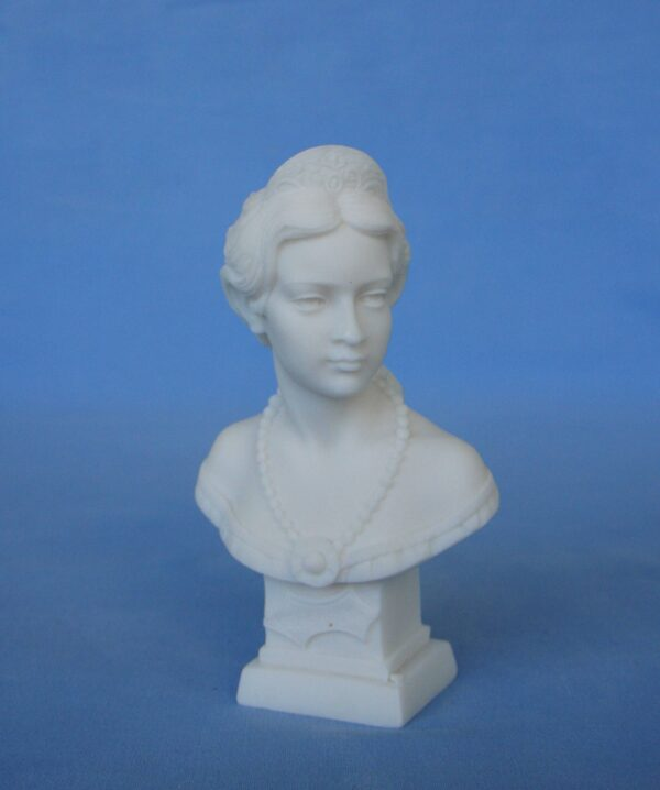 The bust statue of Elisabeth of Austria also called Sissi in White color