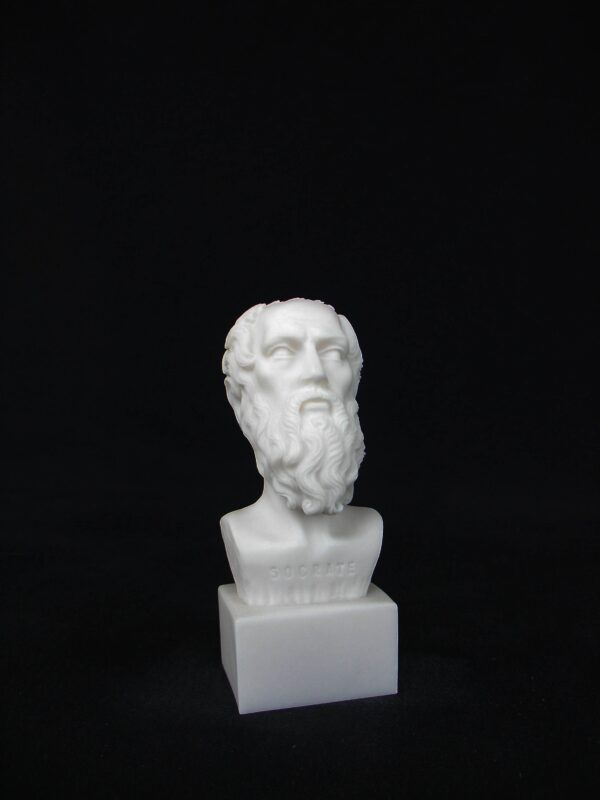 The bust statue of Socrates in White color