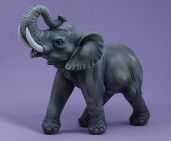 The statue of an Elephant in Black color