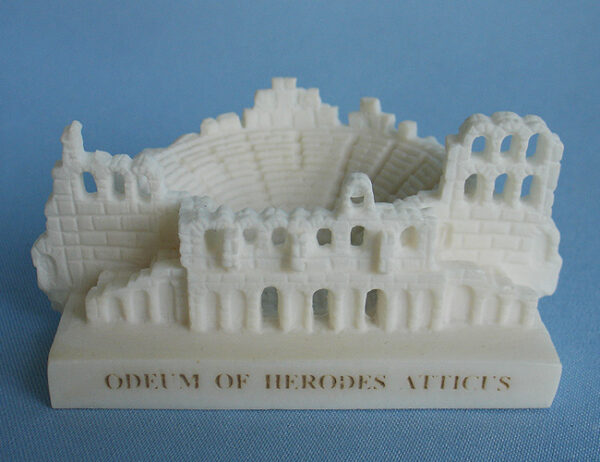 The micrography statue of Odeon of Herodes Atticus in White color