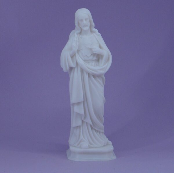 The whole statue of Jesus Christ blessing in White color