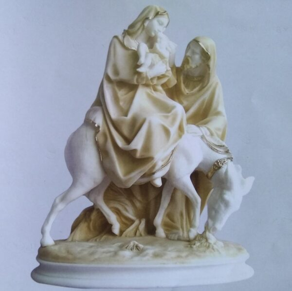 The statue of The Holy Family in Patina color