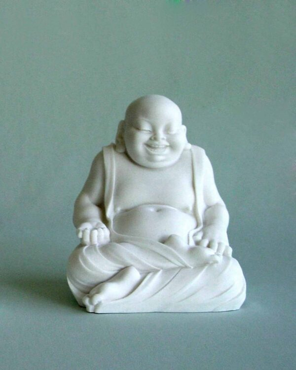 Budai The Fat Buddha in White color