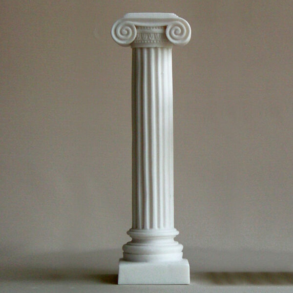 A type 2 statue of a full height column at Ionic order in White color