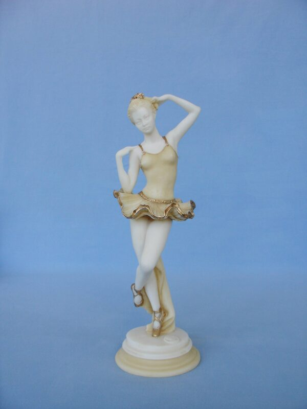 Greek statue of a young Ballet dancer - Ballerina in Patina color