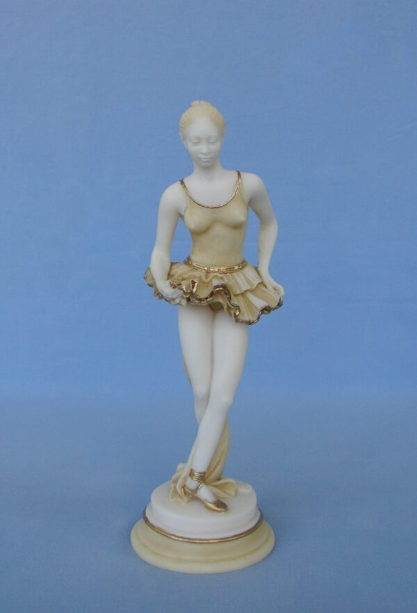A statue of a young Ballet dancer - Ballerina - Type 2 in Patina color