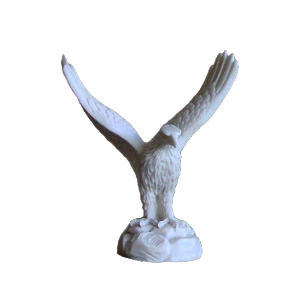 The statue of an Eagle with the wings wide open in White color
