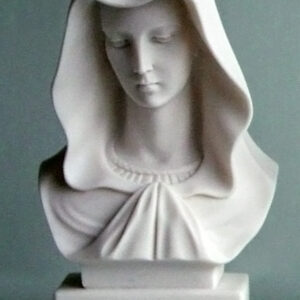 The bust statue of Virgin Mary in White color