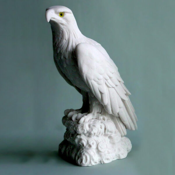 The statue of an Eagle staring in White color