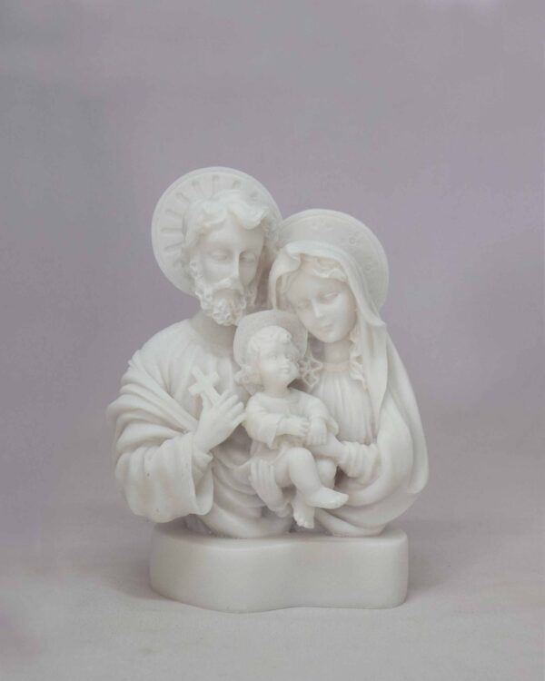 The bust statue of The Holy Family in White color