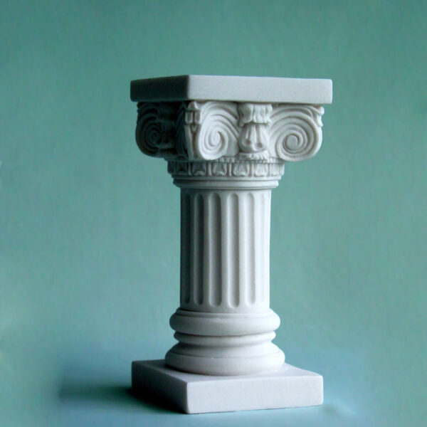 A statue of a full height column at Ionic order in White color