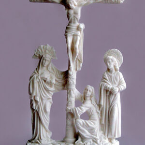 The statue of Jesus Christ Crucifixion in White color
