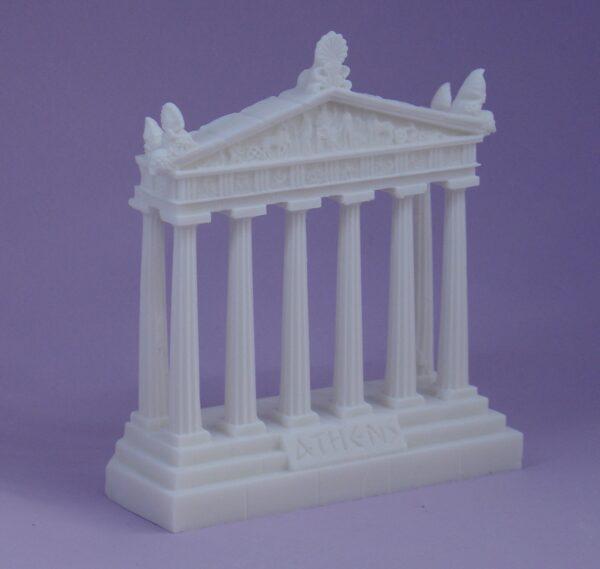 Facade of the Parthenon statue in White color