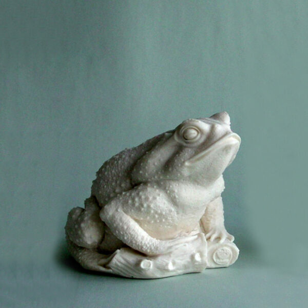 The statue of a frog in White color