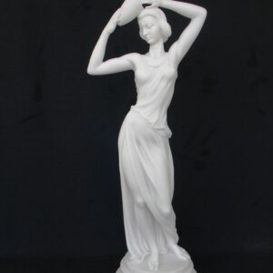 Maiden holding clay pot over her head in White color