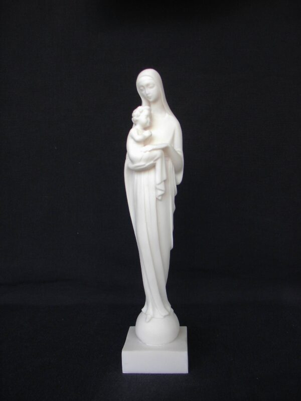 Virgin Mary holding baby Jesus Christ in White color