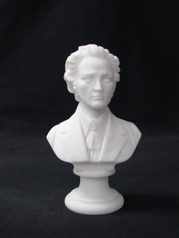 Greek statue bust of the famous Polish composer Frederic Chopin in White color