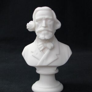 Greek statue bust of the famous Italian composer Giuseppe Verdi in White color