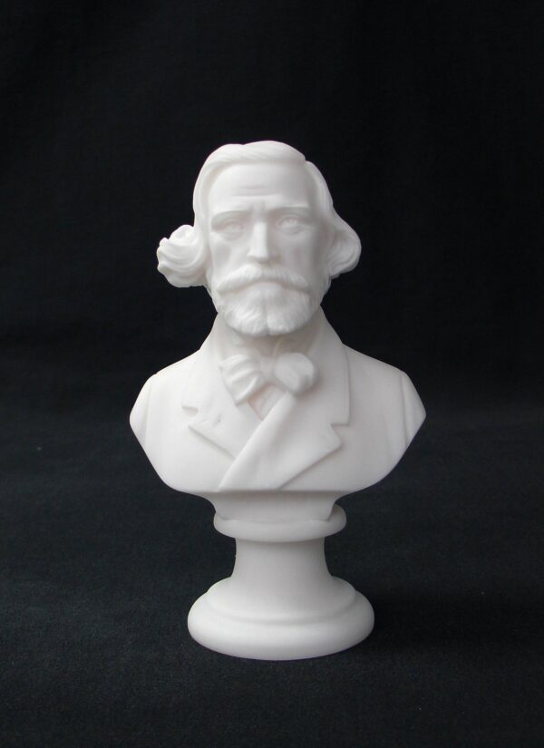 Greek statue bust of the famous Italian composer Giuseppe Verdi in White color