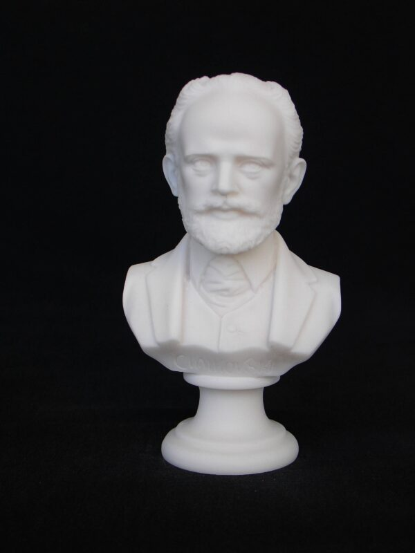 Greek statue bust of the famous Russian composer Tchaikovsky in White color